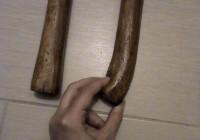 dettaglio bastone di gomma